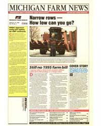 Michigan Farm News : Narrow Rows How Low... by Michigan State University