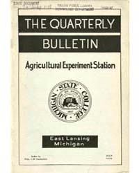 The Quarterly Bulletin, Document Agquart... by Michigan State University