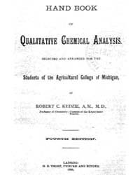 Hand Book of Qualitative Chemical Analys... by Robert C. Kedzie