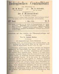 Biologisches Centralblatt, Document Bloc... by Dr. M. Reess