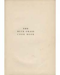 The Blue Grass Cook Book, Document Blue by Minnie C. Fox