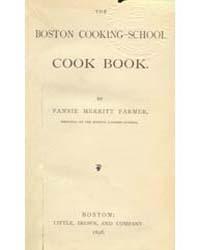 The Boston Cooking-school Cook Booki, Do... by Fannie Merritt Farmer