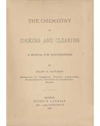 The Chemistry of Cooking and Cleaning, D... by Ellen H. Richards