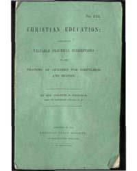 Christian Education, Document Christiane... by Rev. Charles B. Hadduck