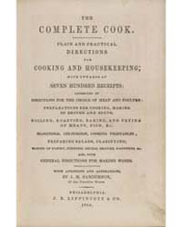 The Complete Cook, Document Comp by J, M. Sanderson