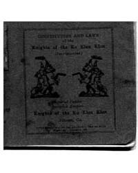 Constitutional and Laws of the Knights o... by Michigan State University