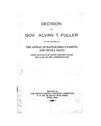 Decision of Gov. Alvan T. Fuller, Docume... by Michigan State University