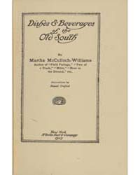Dishes & Beverages of the Old South, Doc... by Martha McCulloch Williams