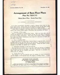 Arrangement of Barn Floor Plans, Documen... by C. H. Jefferson