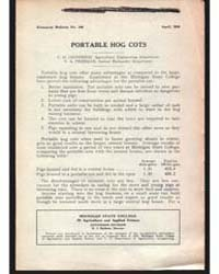 Port Able Hog Cots, Document E103 by C. H. Jefferson