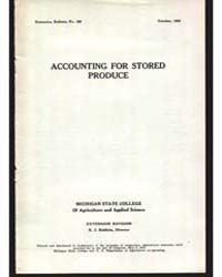 Accounting for Stored, Document E106 by Baldwin, R. J.