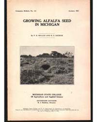 Growing Alfalfa Seed, Document E111 by P. R. Miller