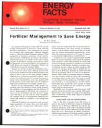 Energy Facts, Document E1136Print3 by M.L. Vitosh
