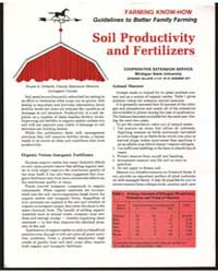 Soil Productivity and Fertilizers, Docum... by Michigan State University
