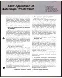 Land Application of Municipal Wastewater... by Michigan State University