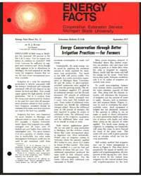 Energy Conservation Through Better Ir,ig... by R. J. Kunze