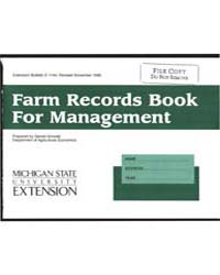 Farm Record Sbook for Management, Docume... by Michigan State University