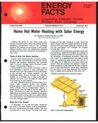 Home Hot Water Heating with Solar Energy... by Claudia A. Myers
