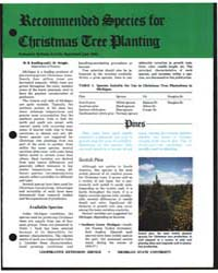 Recommended Species for Christmas Tree P... by M. R. Koelling