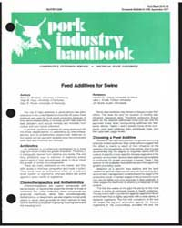 Feed Additives for Swine, Document E1156 by MacK D. Whiteker
