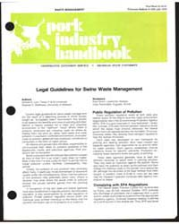 Legal Guidelines for Swine Waste Managem... by Donald R. Levi