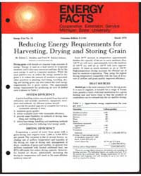 Reducing Energy Requirements for Harvest... by Robert L. Maddex