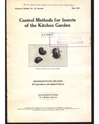 Control Methods for Insects, Document E1... by R. H. Pettit