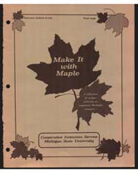 Make it with Maple, Document E1181 by Koelling, Melvin R.
