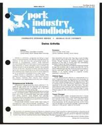 Swine Arthritis, Document E1183 by Richard Ross