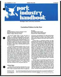 Lactation Failure in the Sow, Document E... by Guy-pierre Martineau