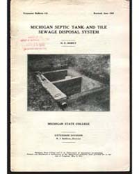 Michigan Septic Tank and Tile, Document ... by O. E. Robey