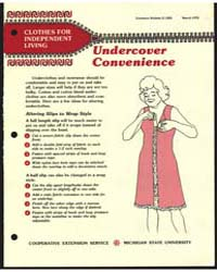 Undercover Convenience, Document E1205 by Michigan State University