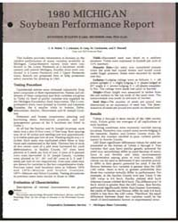 1980 Michigan Soybean Performance Report... by Z. R. Helsel
