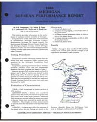 1985 Michigan Soybean Performance Report... by O.B. Hesterman