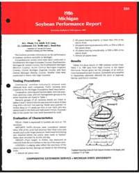 1986 Michigan Soybean Performance Report... by M.L. Vltosh