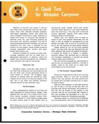 A Quick Test for Atrazine Carryover by Michigan State University