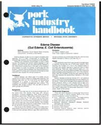 Pork Industry Handbook, Document E1218 by Martin Bergeland