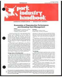 Pork Industry Handbook, Document E1220 by Michigan State University