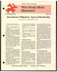 Who Needs More Members ?, Document E1224 by Maxine Ferris