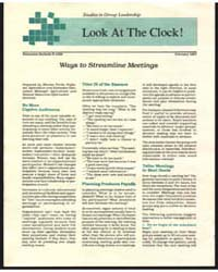 Look at the Clock, Document E1226Rev1 by Maxine Ferris