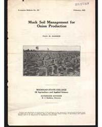 Muck Soil Management For, Document E123 by Paul M. Harmer