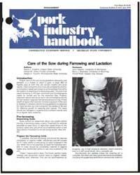 Pork Industry Handbook, Document E1232 by David C. England