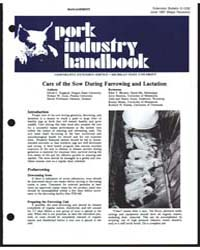 Pork Industry Handbook, Document E1232Re... by David C. England