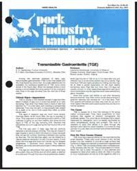 Pork Industry Handbook, Document E1233 by E. O. Haelterman