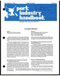 Pork Industry Handbook, Document E1236Re... by Straw, Barbara
