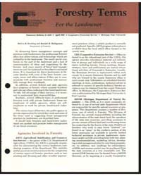 Forestry Terms for the Landowner, Docume... by Koelling, Melvin R.