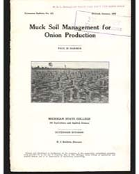 Muck Soil Management For, Document E123R... by Paul M. Harmer