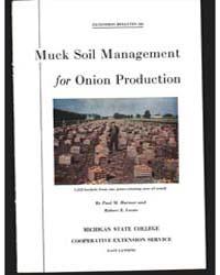 Muck Soil Management, Document E123Rev2 by Paul M. Harmer
