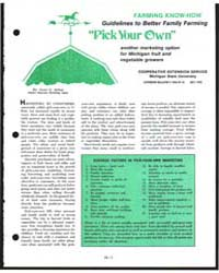 Pick Your Own, Document E1246 by Glen G. Antle