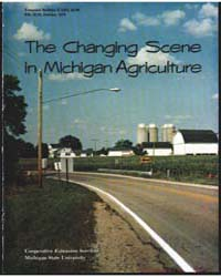 The Changing Scene in Michigan Agricultu... by K. T. Wright
